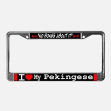Pekingese Gifts License Plate Frame