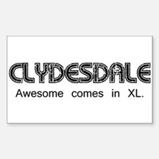 Clydesdale - Awesome Sticker (Rectangle)