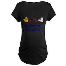 Triathlete_In_Ttraining Maternity T-Shirt