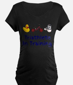 Triathlete_In_Ttraining Maternity T-Shirt