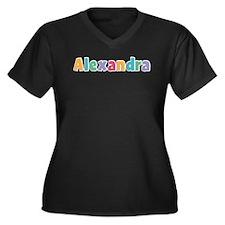 Alexandra Women's Plus Size V-Neck Dark T-Shirt