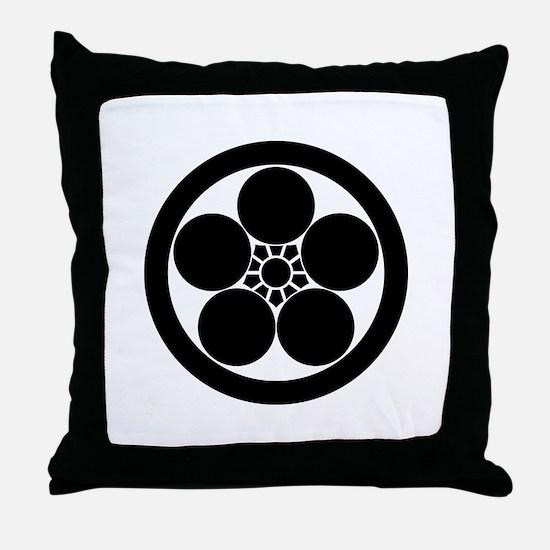 maru ni umebachi Throw Pillow