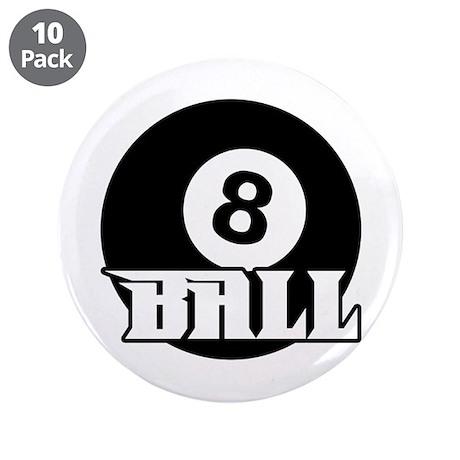 """8 Ball 3.5"""" Button (10 pack)"""