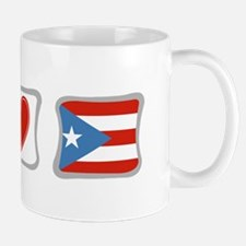 Peace, Love and Puerto Rico Mug