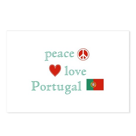 Peace, Love and Portugal Postcards (Package of 8)