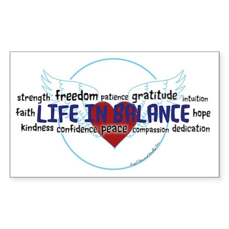 Life in Balance Sticker (Rectangle)