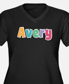 Avery Women's Plus Size V-Neck Dark T-Shirt