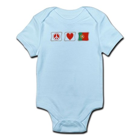 Peace, Love and Portugal Infant Bodysuit