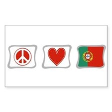 Peace, Love and Portugal Decal