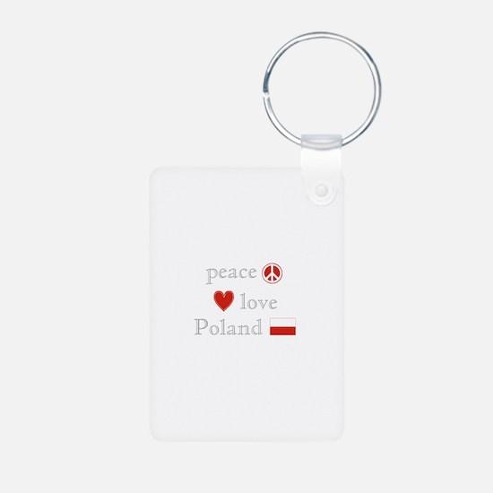 Peace, Love and Poland Keychains