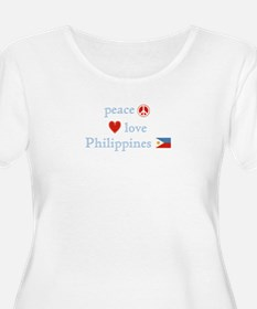 Peace, Love and Philippines T-Shirt