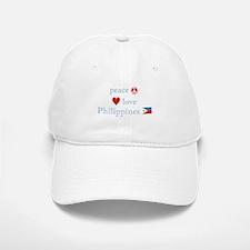 Peace, Love and Philippines Baseball Baseball Cap
