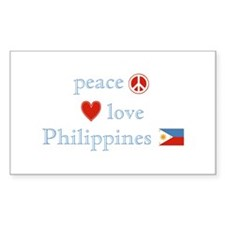 Peace, Love and Philippines Decal