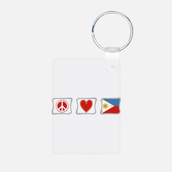 Peace, Love and Philippines Keychains
