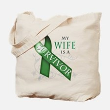My Wife is a Survivor (green).png Tote Bag