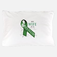 My Wife is a Survivor (green).png Pillow Case