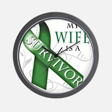 My Wife is a Survivor (green).png Wall Clock