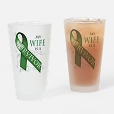 My Wife is a Survivor (green).png Drinking Glass