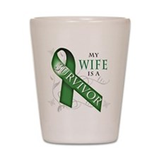 My Wife is a Survivor (green).png Shot Glass