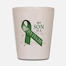 My Son is a Survivor (green).png Shot Glass