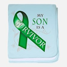 My Son is a Survivor (green).png baby blanket