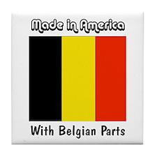 Belgian Parts Tile Coaster