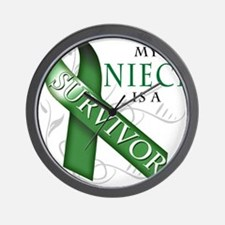 My Niece is a Survivor (green).png Wall Clock