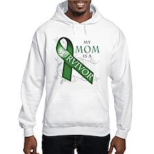 My Mom is a Survivor (green).png Hoodie