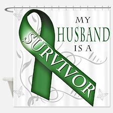 My Husband is a Survivor (green).png Shower Curtai
