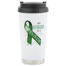 My Husband is a Survivor (green).png Travel Mug