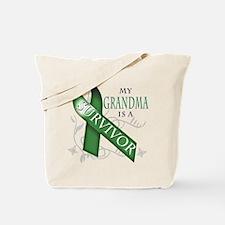 My Grandma is a Survivor (green).png Tote Bag