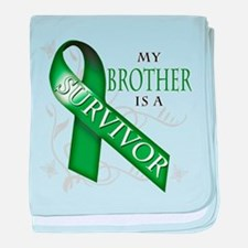 My Brother is a Survivor (green).png baby blanket