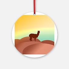 alpaca landscape Ornament (Round)