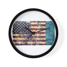 BE Patriotic Wall Clock