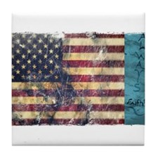 BE Patriotic Tile Coaster