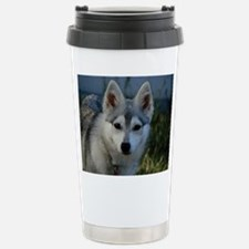 Alaskan Klee Kai Puppy Portrait Travel Mug