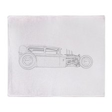 1930 Ford Rat Rod Throw Blanket