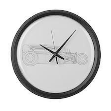 1930 Ford Rat Rod Large Wall Clock