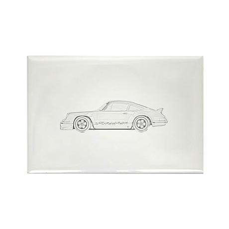 Porsche Carrera Rectangle Magnet