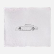 Porsche Carrera Throw Blanket