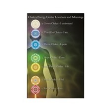 Chakras Rectangle Magnet