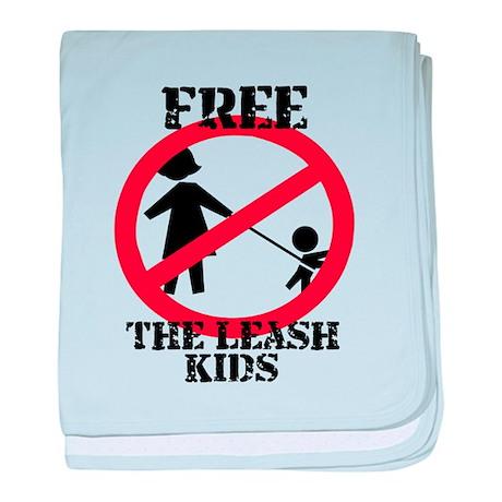 Free the leash kids baby blanket