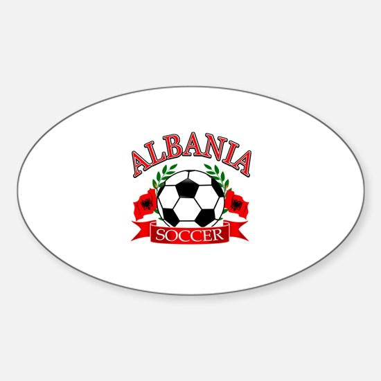 Albania Soccer Designs Sticker (Oval)