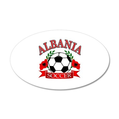 Albania Soccer Designs 35x21 Oval Wall Decal