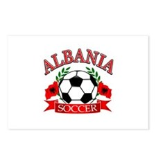 Albania Soccer Designs Postcards (Package of 8)