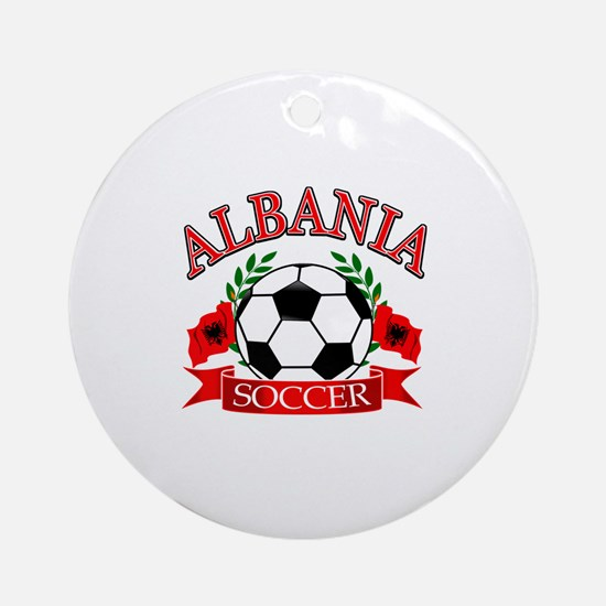 Albania Soccer Designs Ornament (Round)