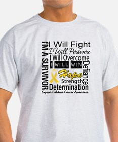 Childhood Cancer Persevere T-Shirt