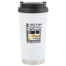 Childhood Cancer Persevere Travel Mug