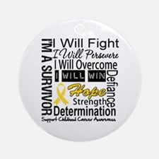 Childhood Cancer Persevere Ornament (Round)