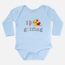 golfchick.png Long Sleeve Infant Bodysuit